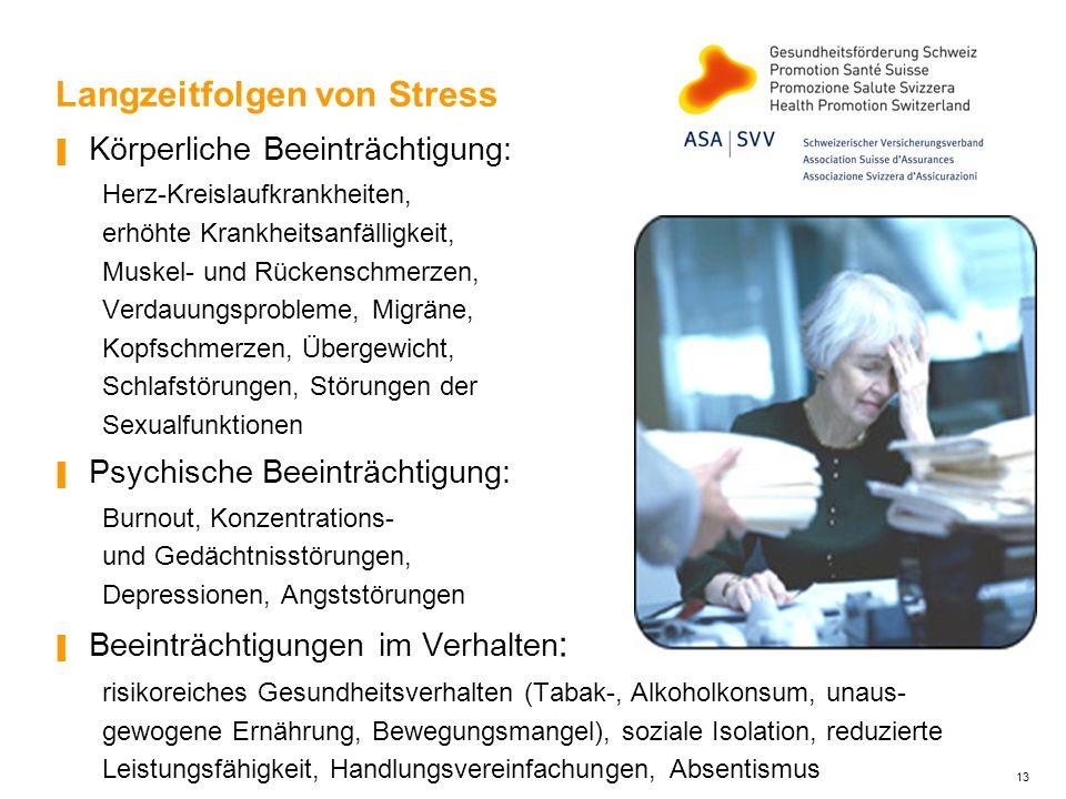 Langzeitfolgen von Stress