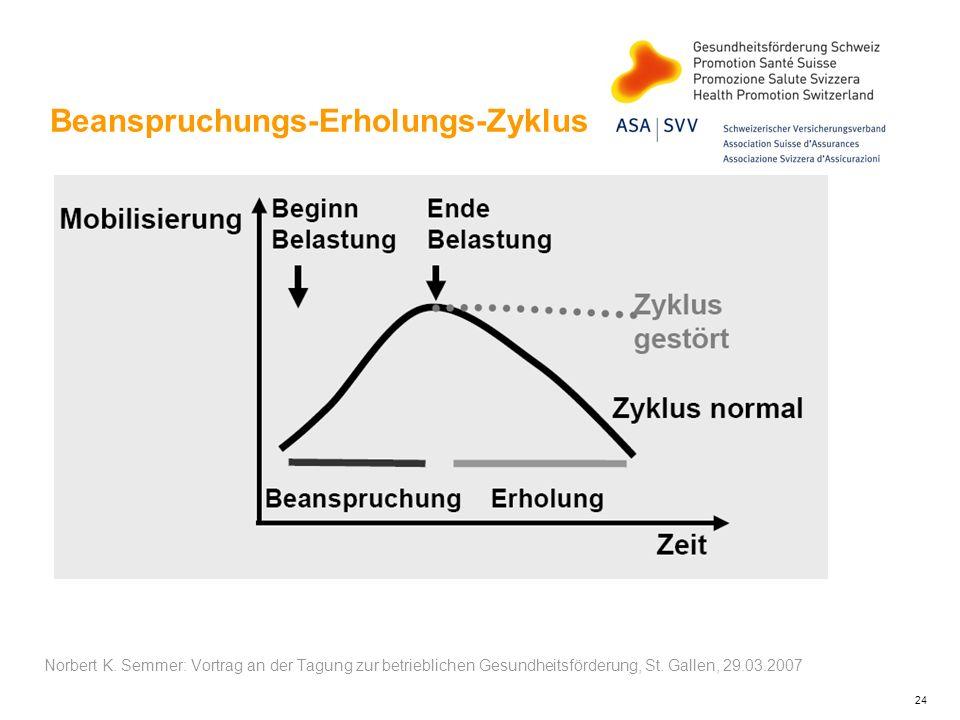 Beanspruchungs-Erholungs-Zyklus