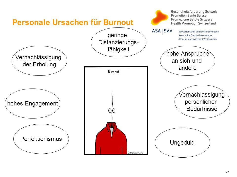 Personale Ursachen für Burnout