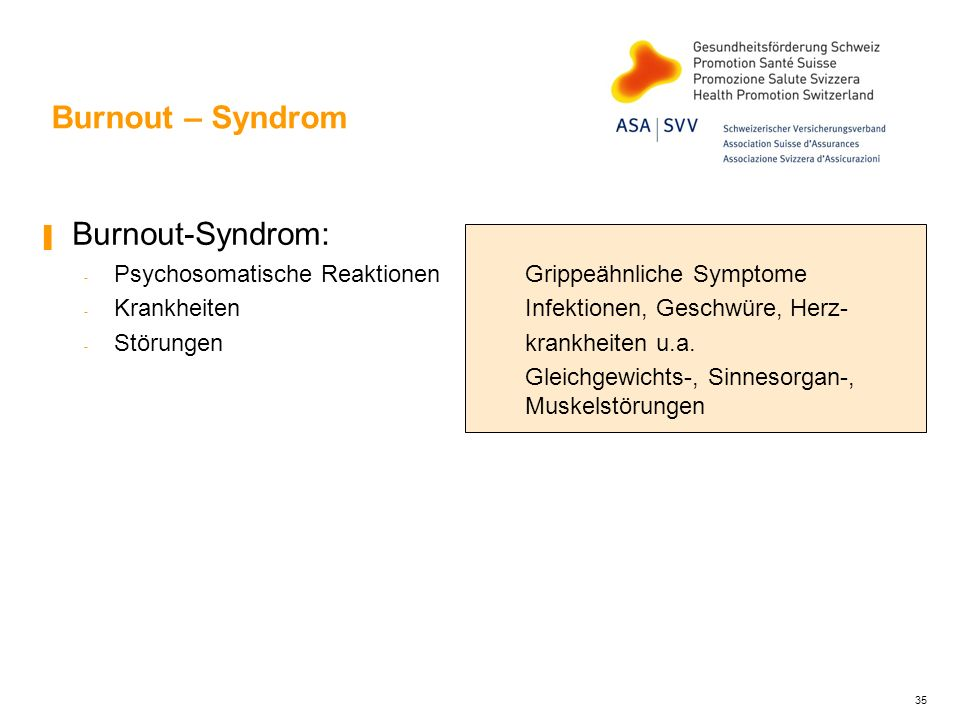 Burnout – Syndrom Burnout-Syndrom: