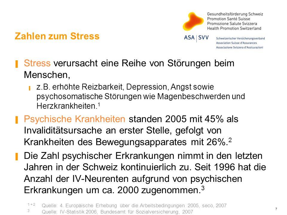Stress verursacht eine Reihe von Störungen beim Menschen,