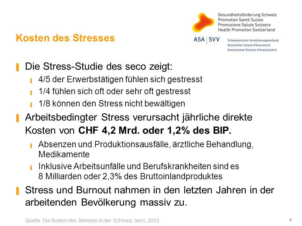 Die Stress-Studie des seco zeigt: