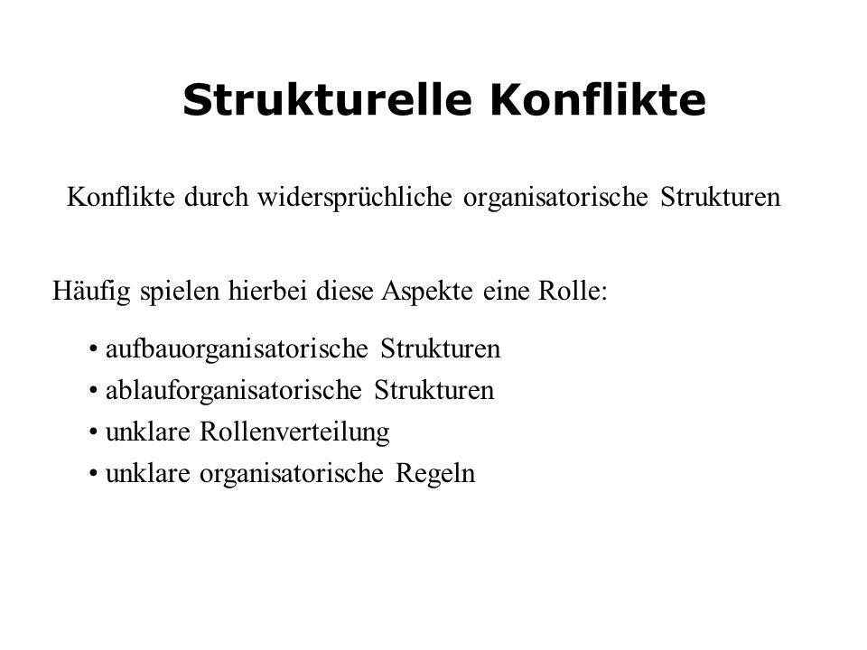 Strukturelle Konflikte