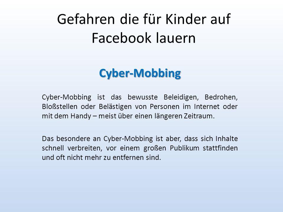 Gefahren die für Kinder auf Facebook lauern