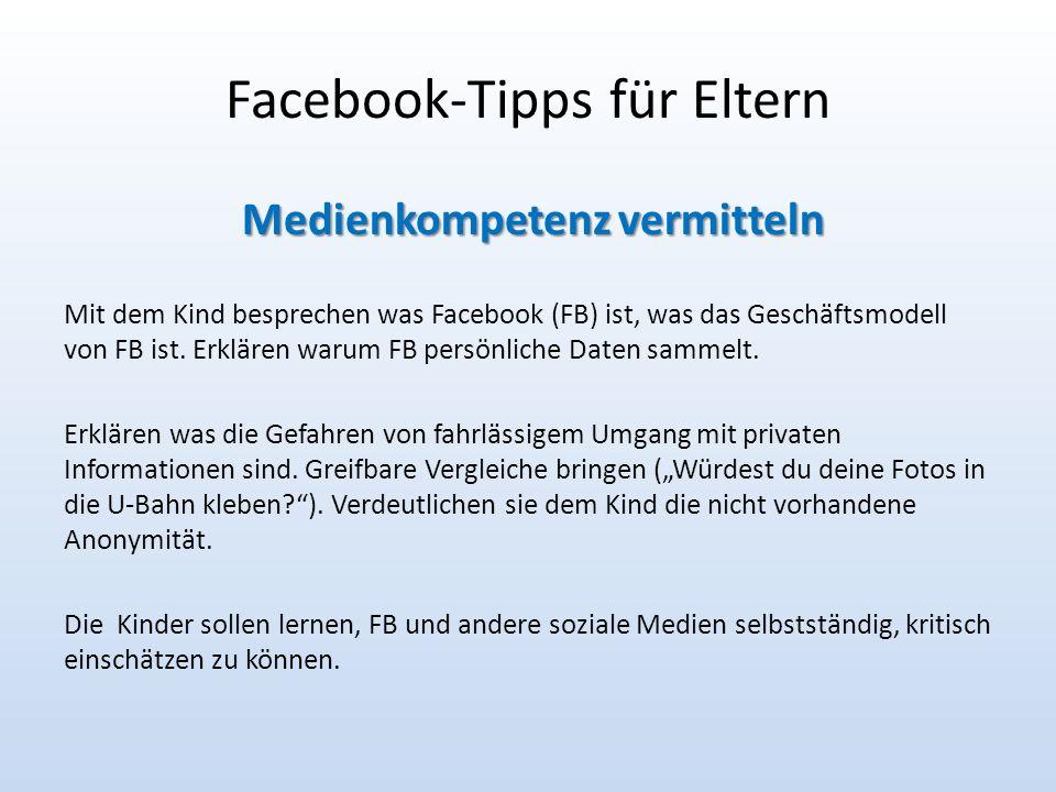 Facebook-Tipps für Eltern