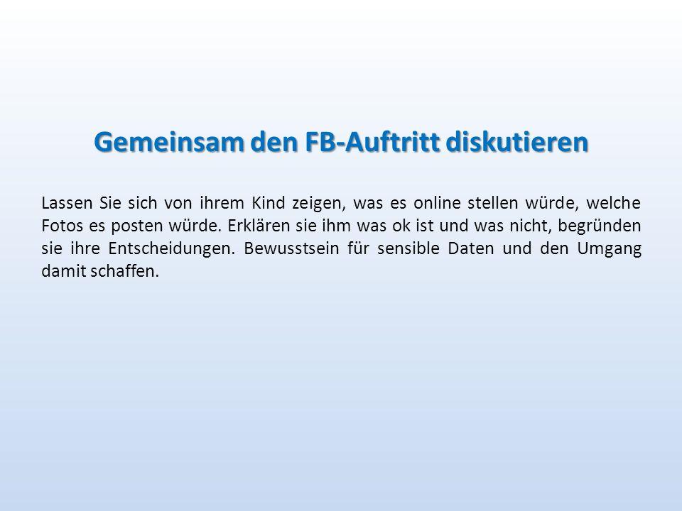 Gemeinsam den FB-Auftritt diskutieren