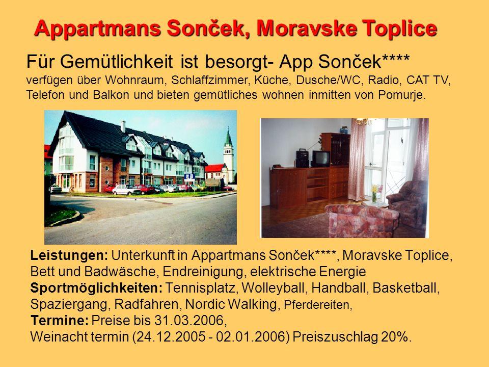 Appartmans Sonček, Moravske Toplice