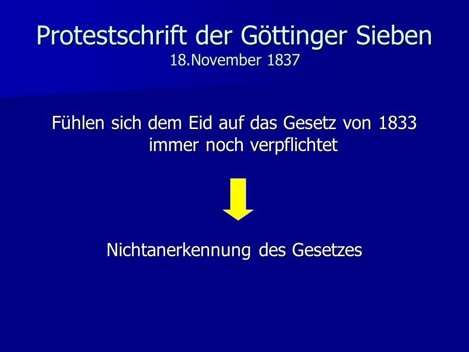 Protestschrift der Göttinger Sieben 18.November 1837
