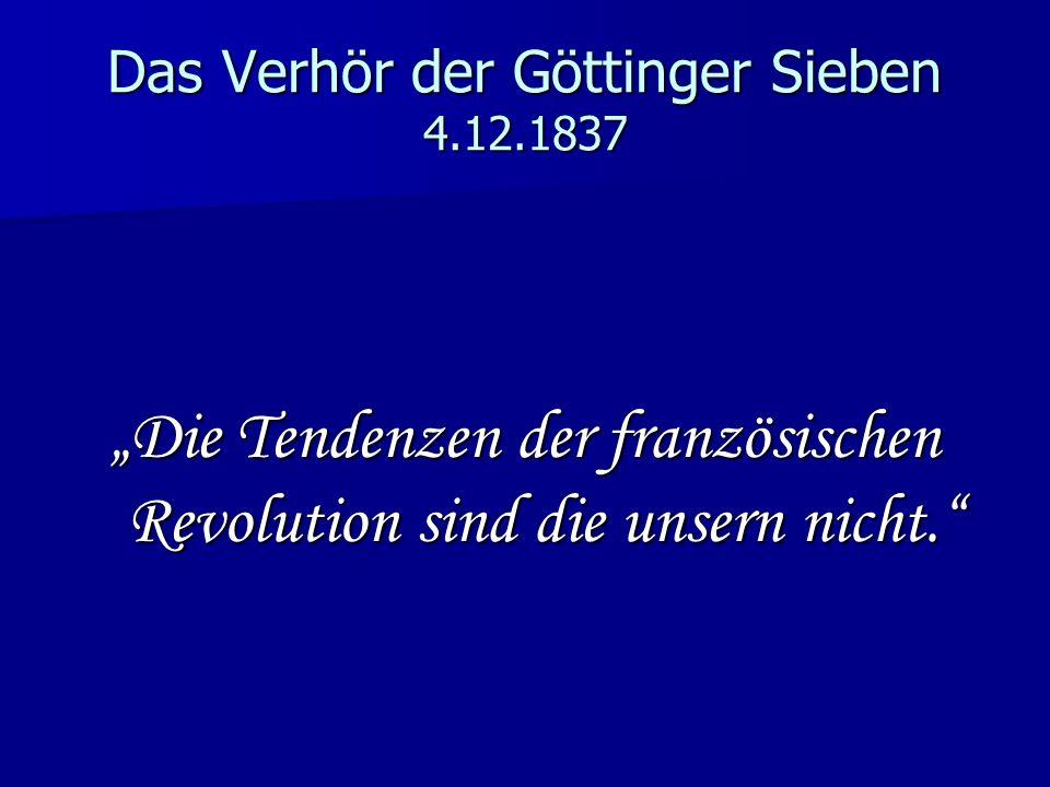 Das Verhör der Göttinger Sieben 4.12.1837