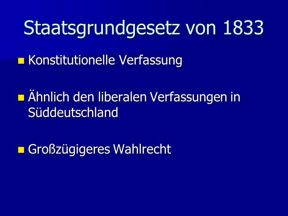 Staatsgrundgesetz von 1833