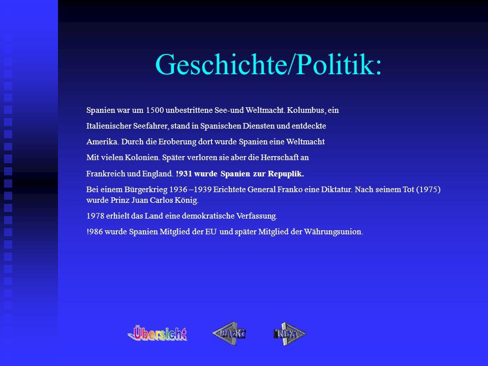 Geschichte/Politik: Übersicht