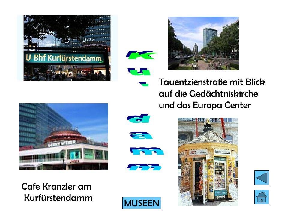Tauentzienstraße mit Blick auf die Gedächtniskirche und das Europa Center