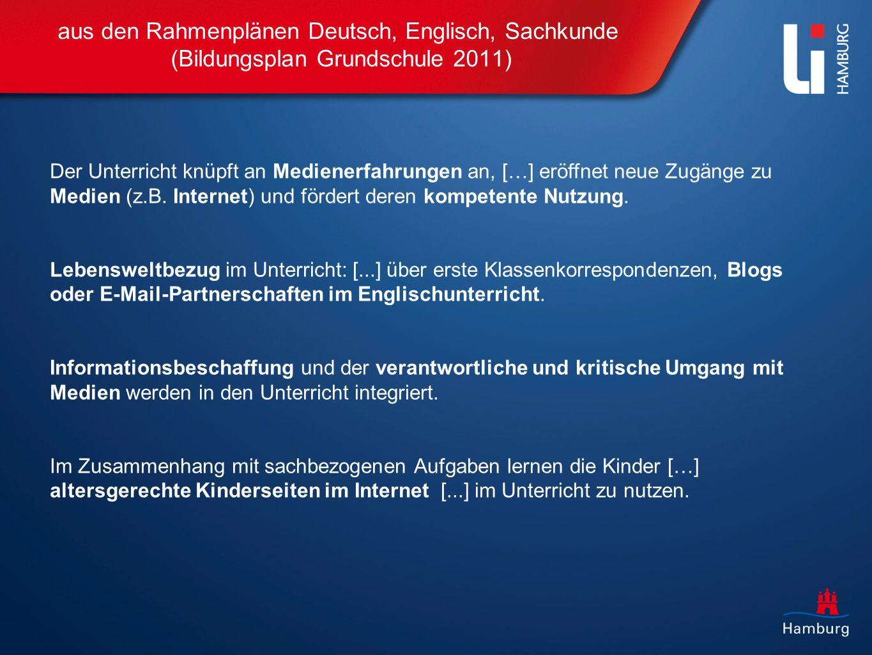 aus den Rahmenplänen Deutsch, Englisch, Sachkunde (Bildungsplan Grundschule 2011)