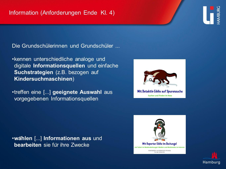 Information (Anforderungen Ende Kl. 4)