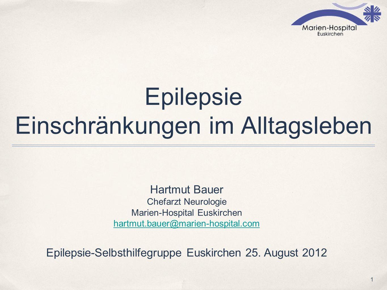 Epilepsie Einschränkungen im Alltagsleben