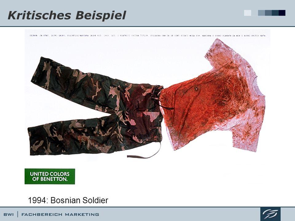 Kritisches Beispiel 1994: Bosnian Soldier