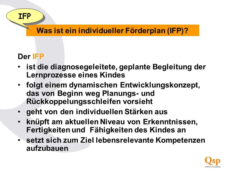 Was ist ein individueller Förderplan (IFP)
