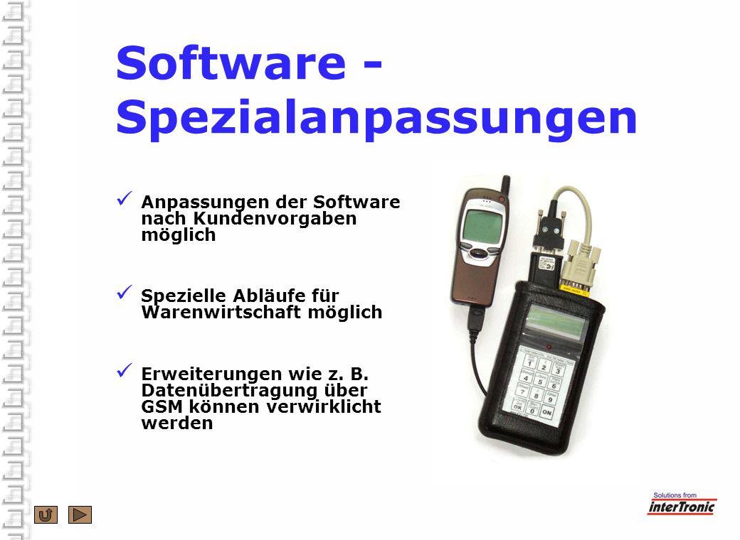 Software - Spezialanpassungen