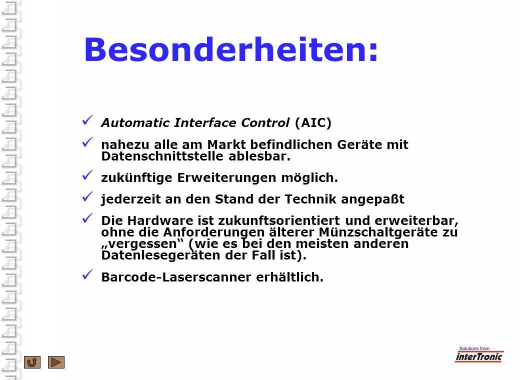 Besonderheiten: Automatic Interface Control (AIC)