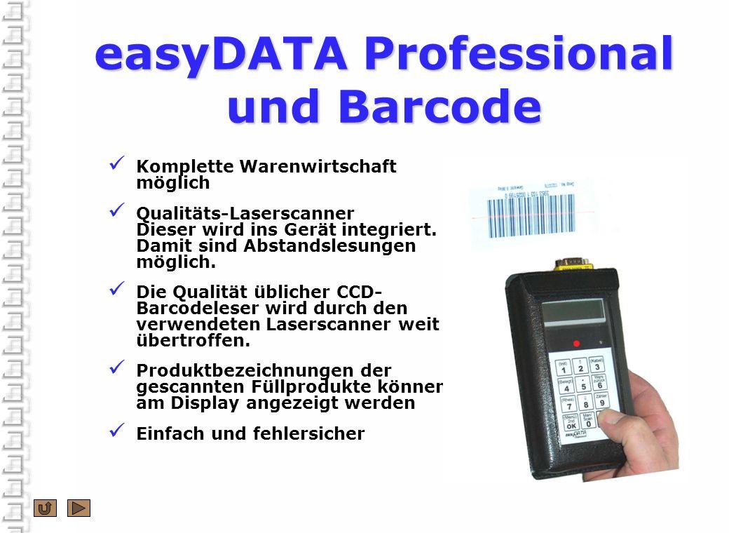 easyDATA Professional und Barcode