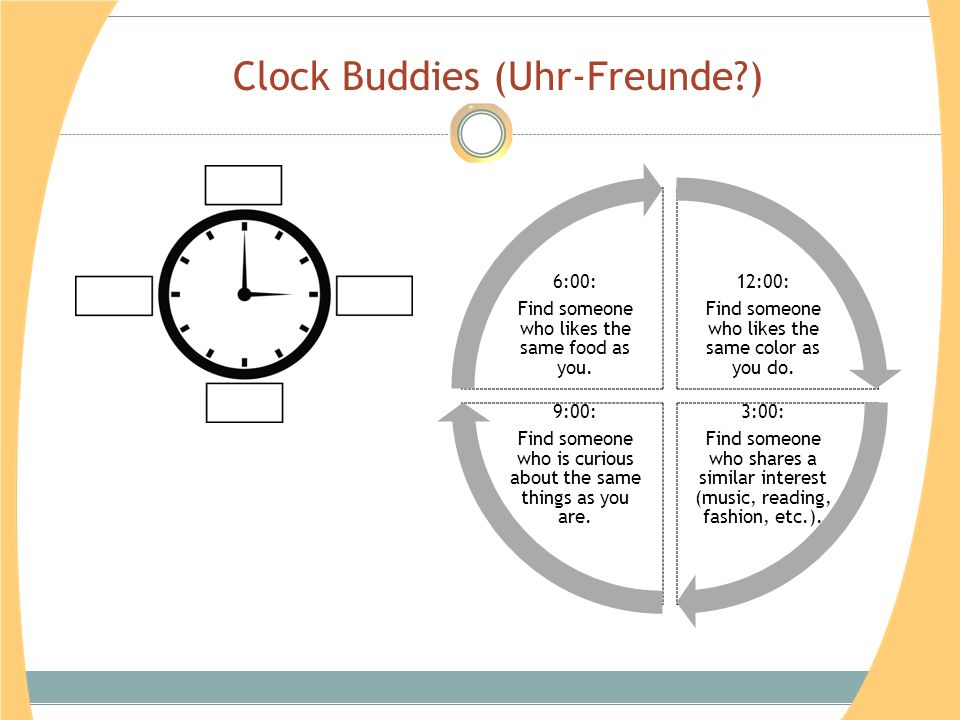 Clock Buddies (Uhr-Freunde )