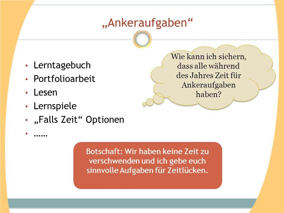 """""""Ankeraufgaben Lerntagebuch Portfolioarbeit Lesen Lernspiele"""