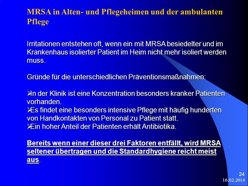 MRSA in Alten- und Pflegeheimen und der ambulanten Pflege