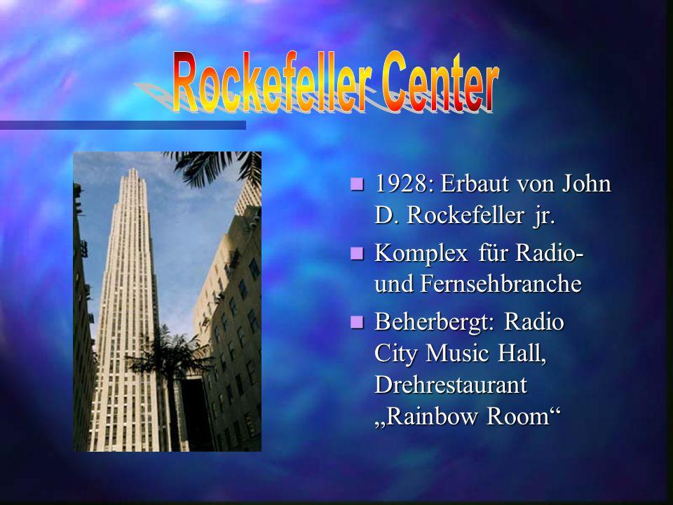 Rockefeller Center 1928: Erbaut von John D. Rockefeller jr.