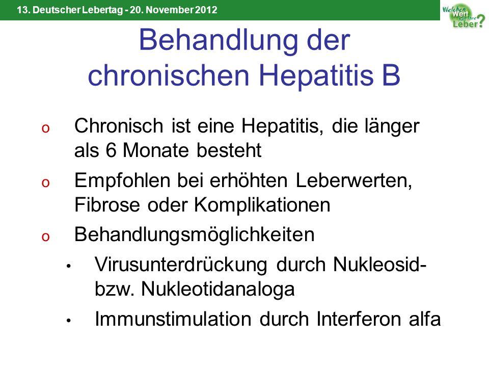 Behandlung der chronischen Hepatitis B