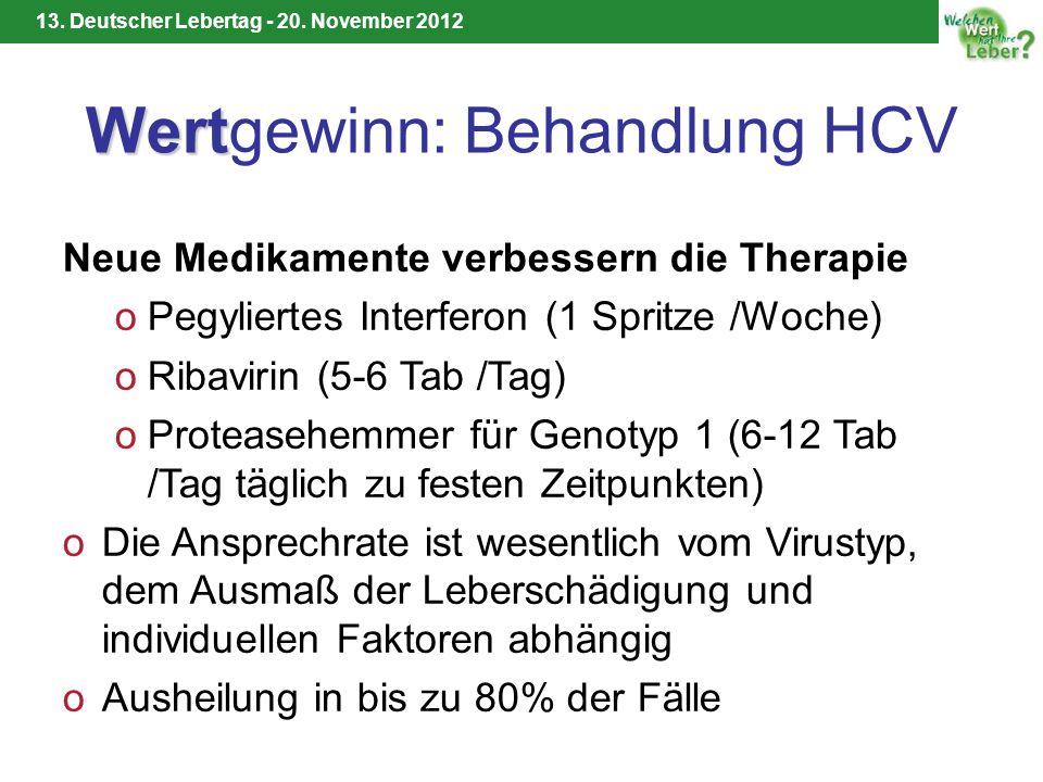 Wertgewinn: Behandlung HCV