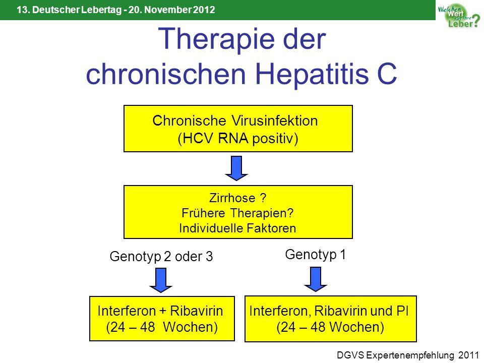 Therapie der chronischen Hepatitis C