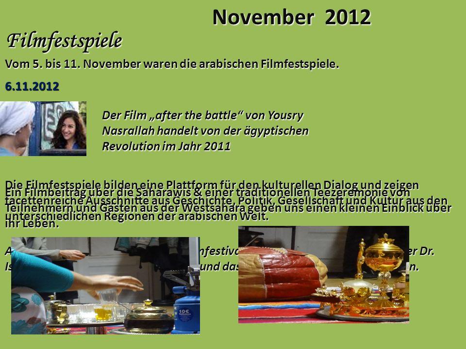 November 2012 Filmfestspiele