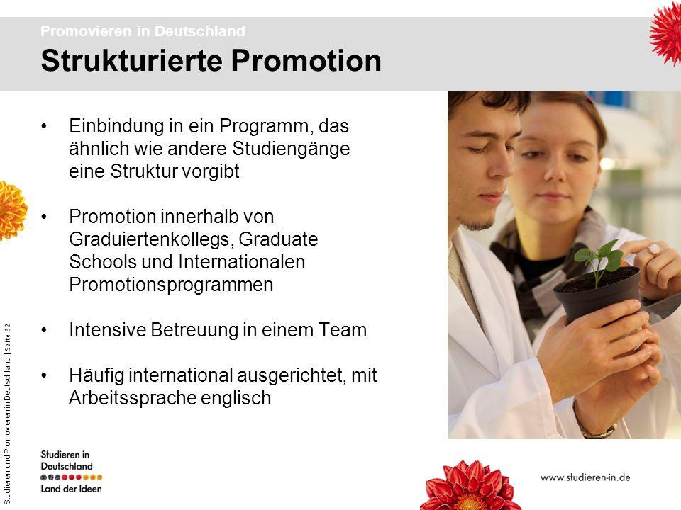 Promovieren in Deutschland