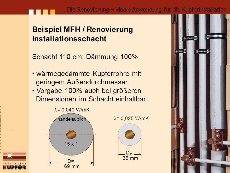 Beispiel MFH / Renovierung Installationsschacht