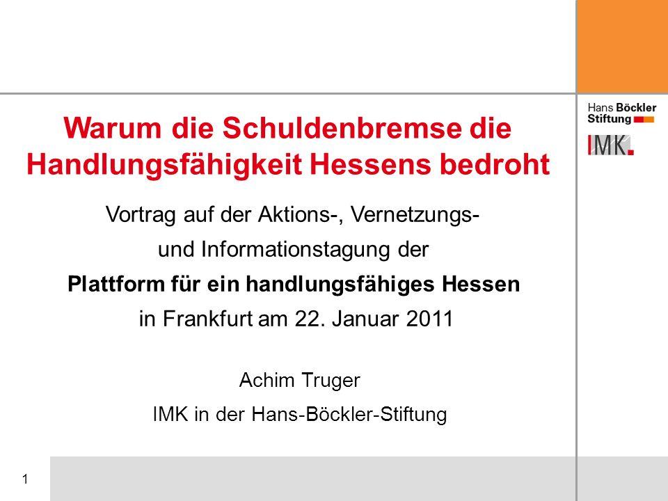 Warum die Schuldenbremse die Handlungsfähigkeit Hessens bedroht