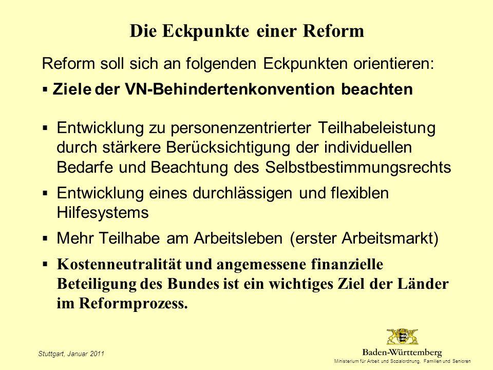 Die Eckpunkte einer Reform