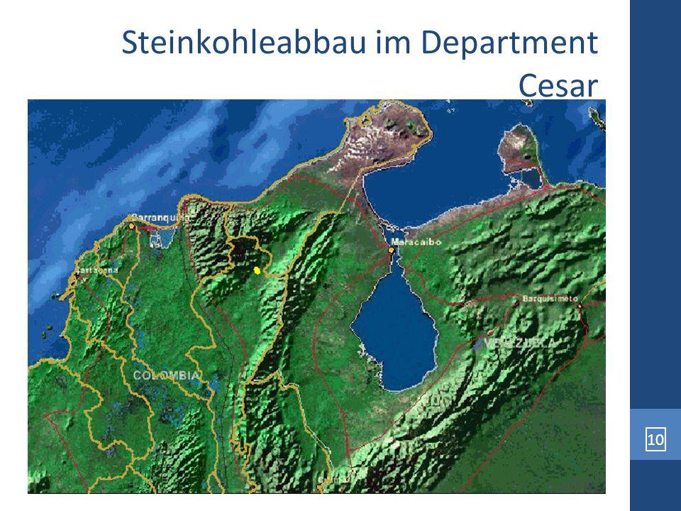 Steinkohleabbau im Department Cesar