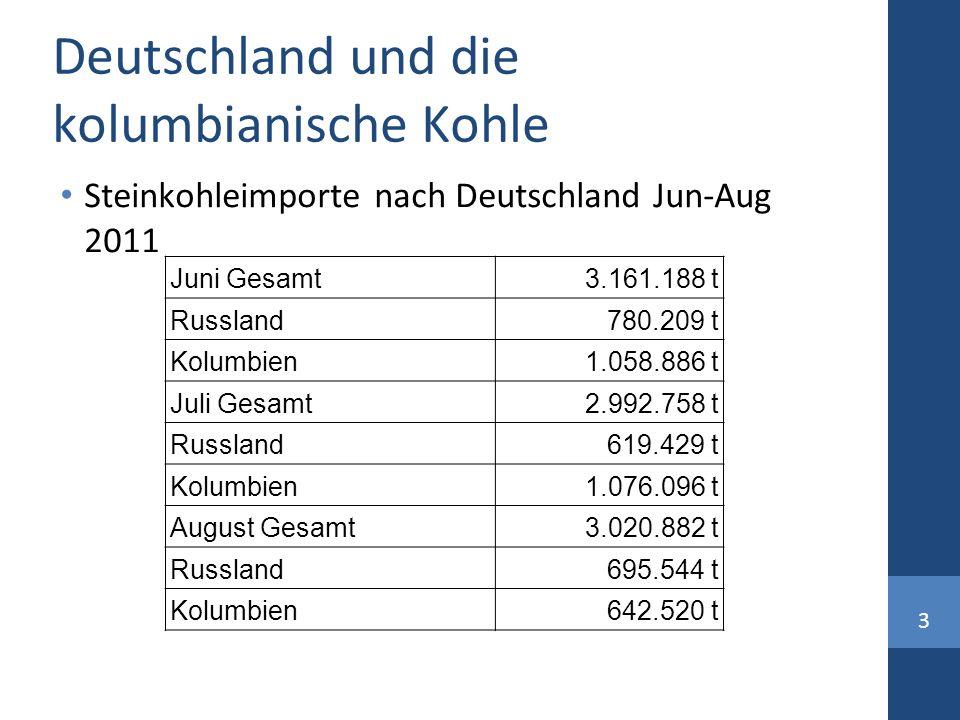 Deutschland und die kolumbianische Kohle
