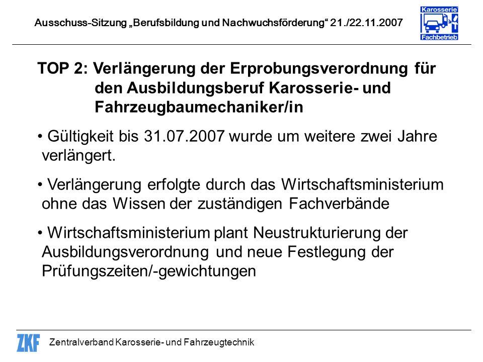 Gültigkeit bis 31.07.2007 wurde um weitere zwei Jahre verlängert.