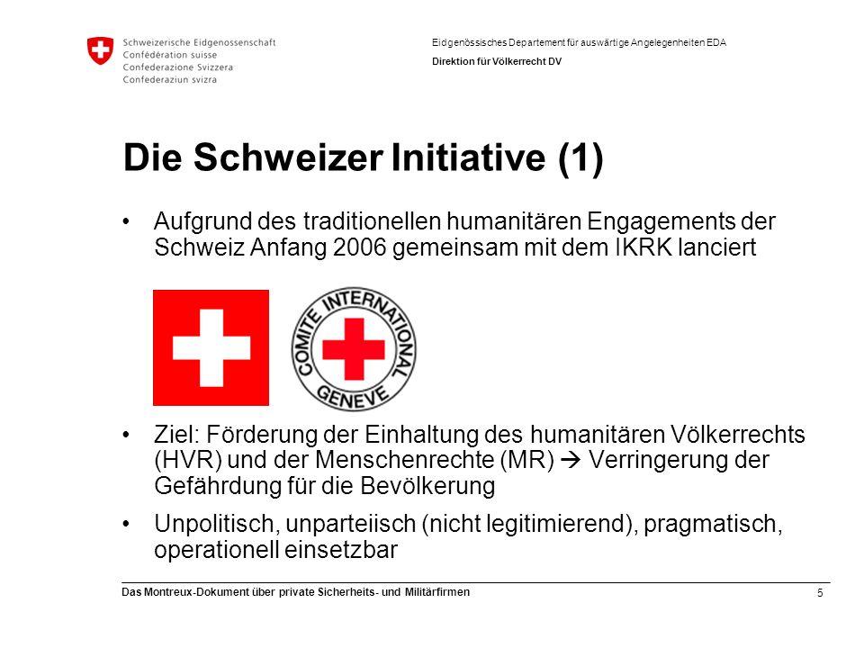 Die Schweizer Initiative (1)