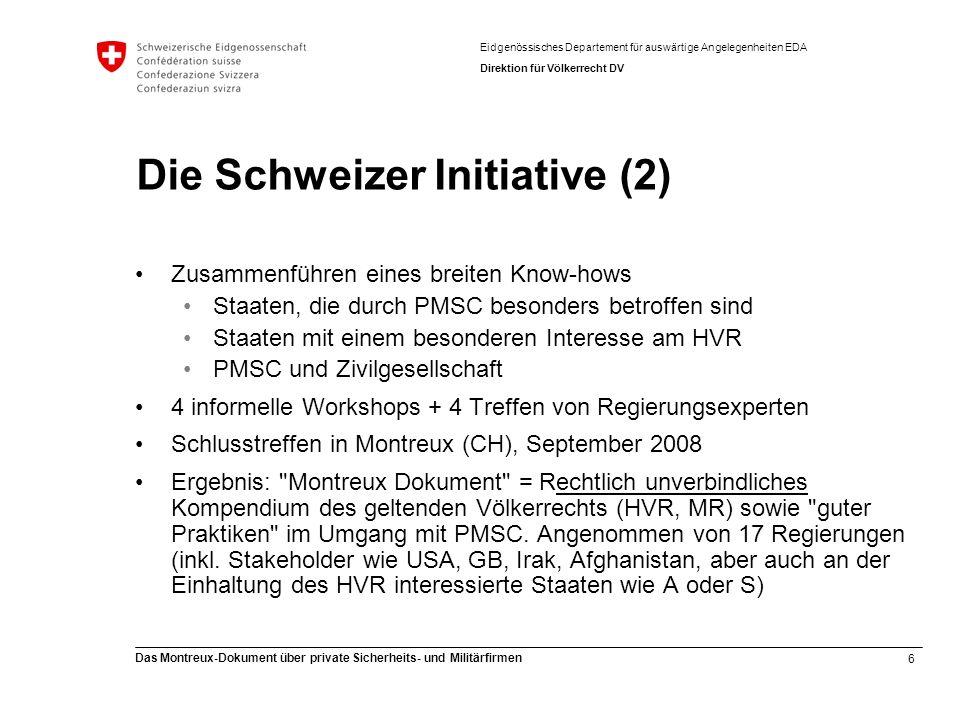 Die Schweizer Initiative (2)