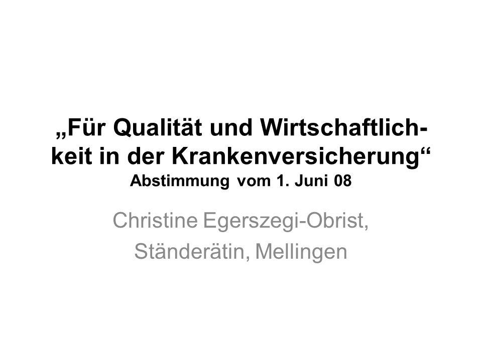 Christine Egerszegi-Obrist, Ständerätin, Mellingen