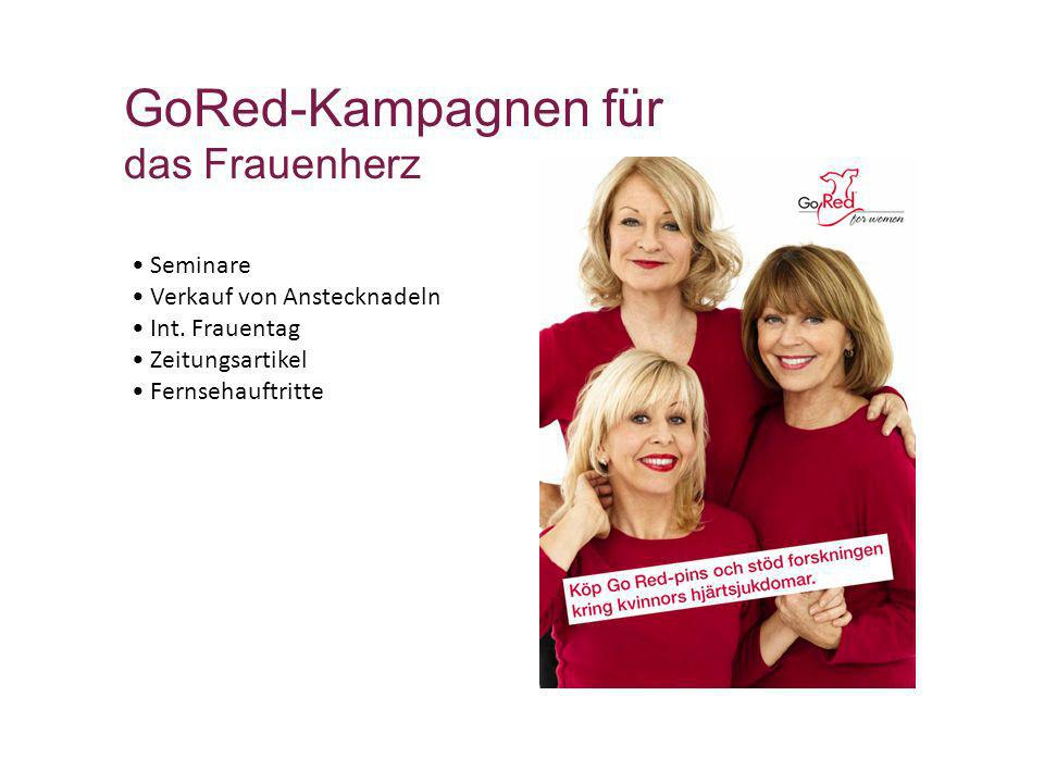 GoRed-Kampagnen für das Frauenherz