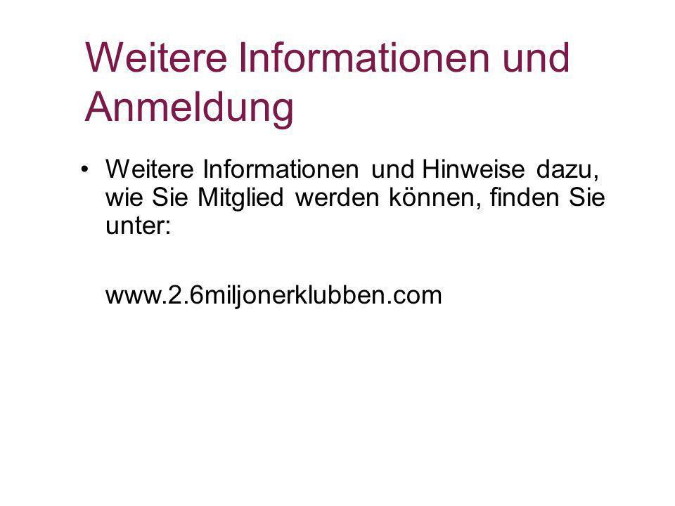 Weitere Informationen und Anmeldung