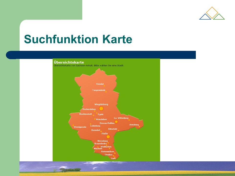 Suchfunktion Karte