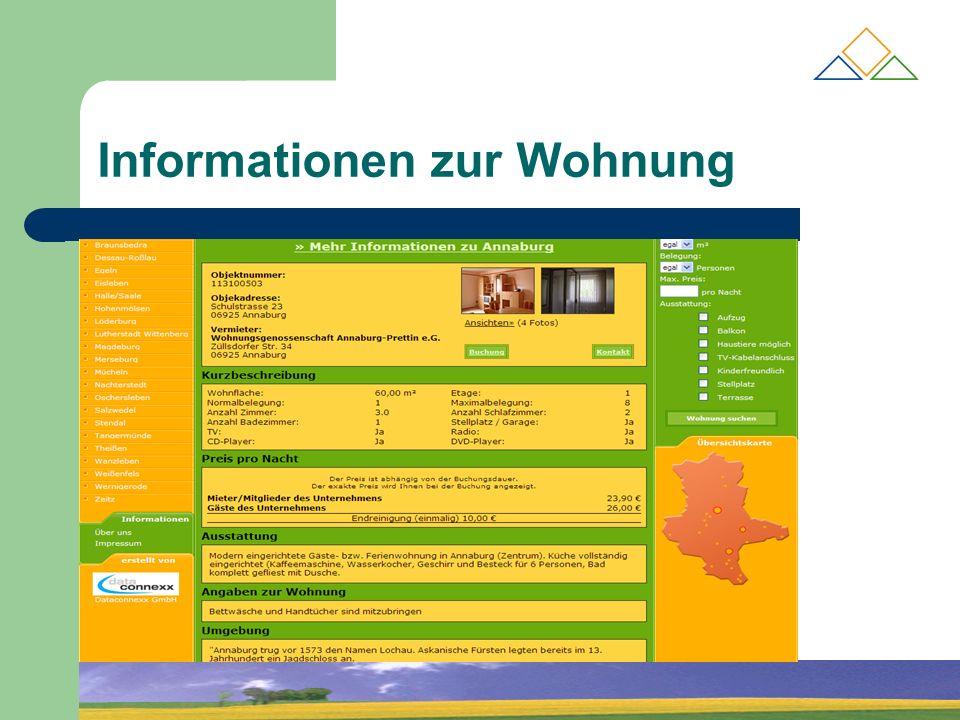 Informationen zur Wohnung