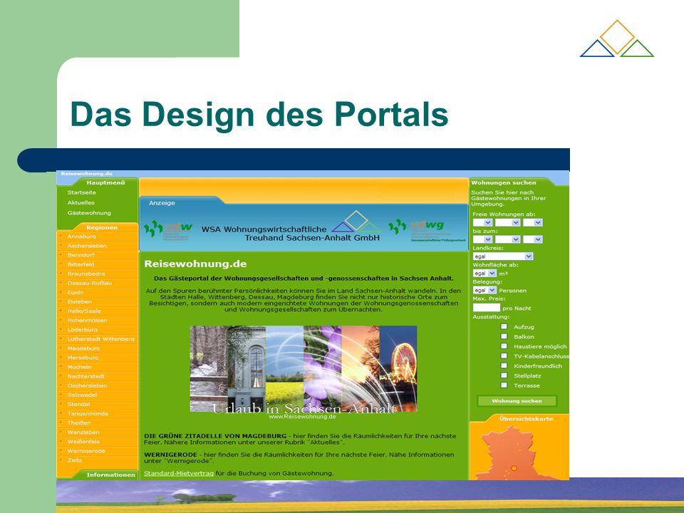 Das Design des Portals