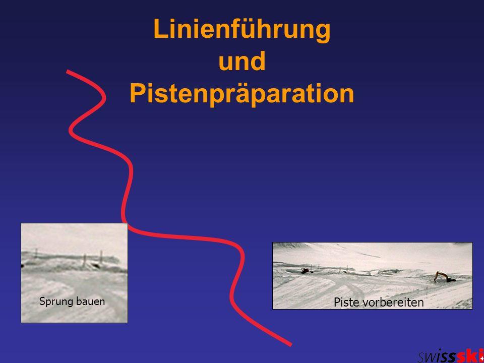 Linienführung und Pistenpräparation