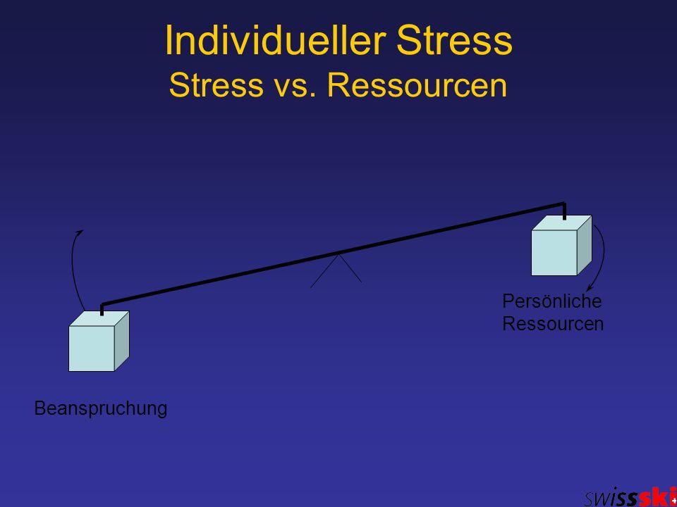 Individueller Stress Stress vs. Ressourcen