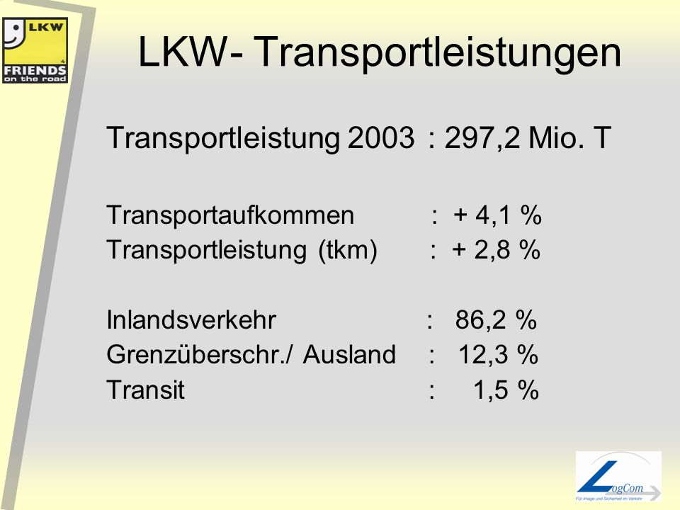LKW- Transportleistungen